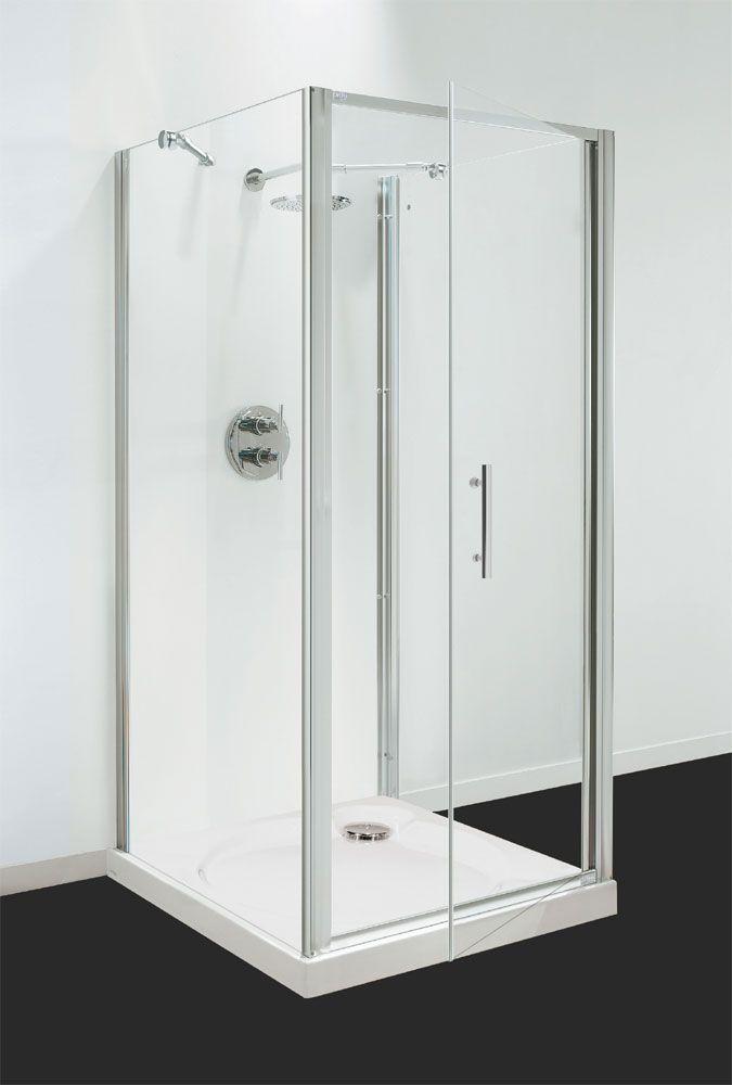 Coram Optima 3 Sided Square Shower Enclosure | Square shower ...