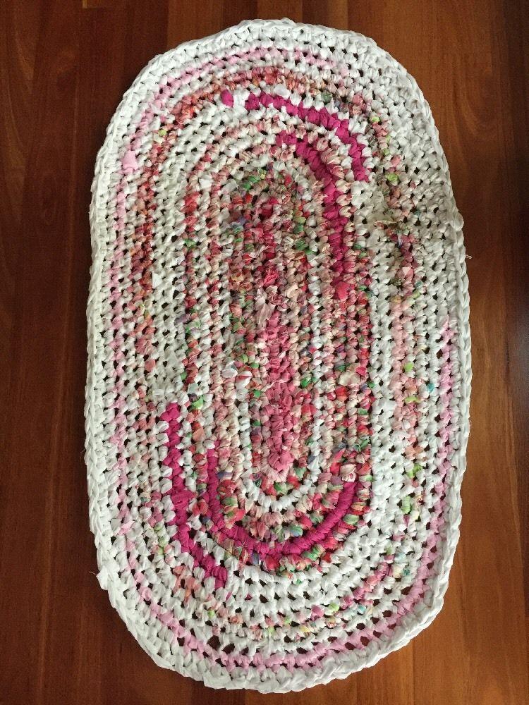 Handmade Rag Rug Mandala Floor Mat Made