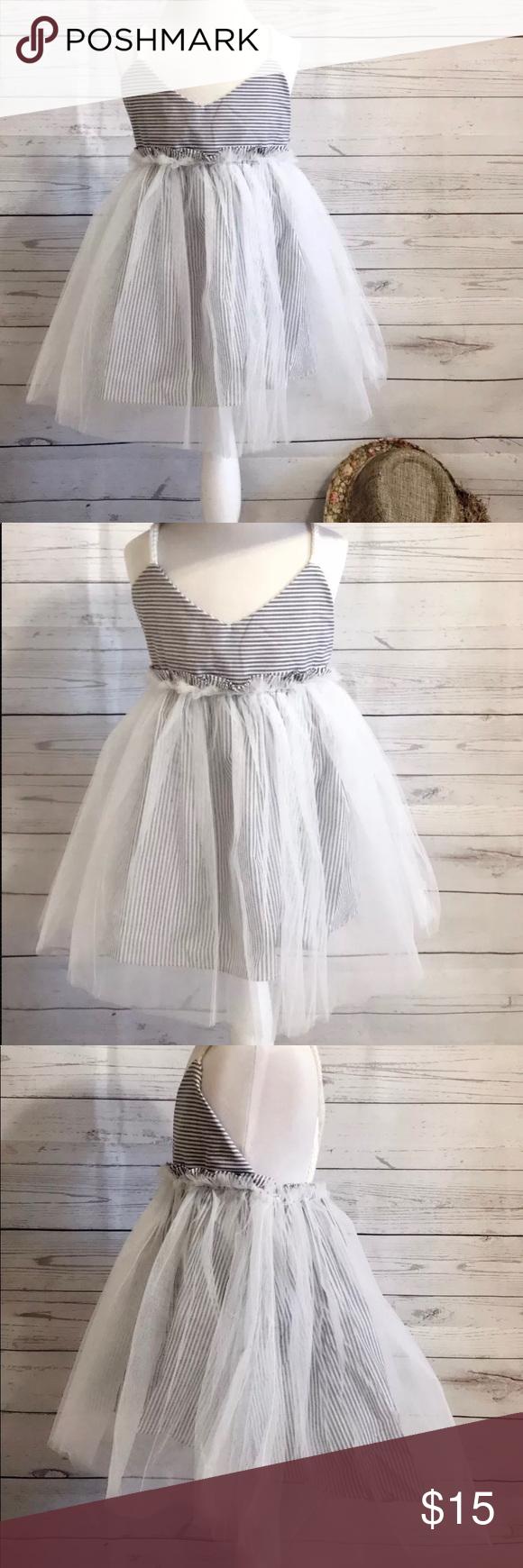 Nwt Little Girl Summer Beach Day Tutu Party Dress Dresses Summer Girls Party Dress [ 1740 x 580 Pixel ]