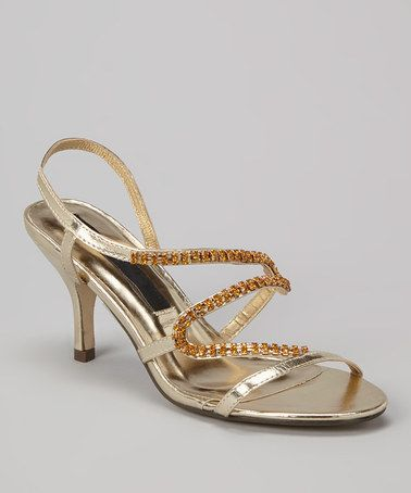 02ab69f6c0a9ee This Gold Saber Sandal by Dreams by California is perfect!  zulilyfinds  Party Shoes