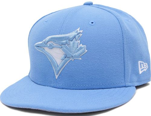 Custom Toronto Blue Jays Sky Blue 59fifty Fitted Baseball Cap By New Era X Mlb Fitted Baseball Caps Fitted Hats Hats For Men