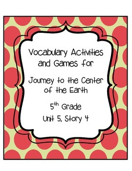Journey to the center of the earth vocabulary activities unit 5 journey to the center of the earth vocabulary game and activities use these 10 activities to engage your students and keep them motivated to learn new fandeluxe Choice Image