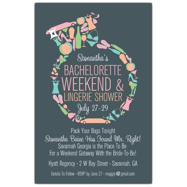 Diamond Ring Bachelorette Invitations Bachelorette Weekend – Bachelorette Party Invitation Templates