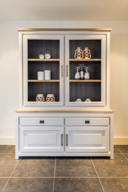 Küchen Vitrinenschrank Weiß  Küchenbuffet Homeshoot - Möbel