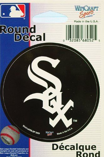 "MLB Chicago White Sox WCR68052091 Round Vinyl Decal, 3"" x 3"""