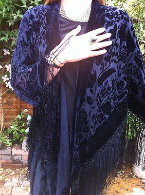 Kimono Jacket Velvet Jacket Devore Silk Rayon Fringe Jacket Great Gatsby | eBay 78