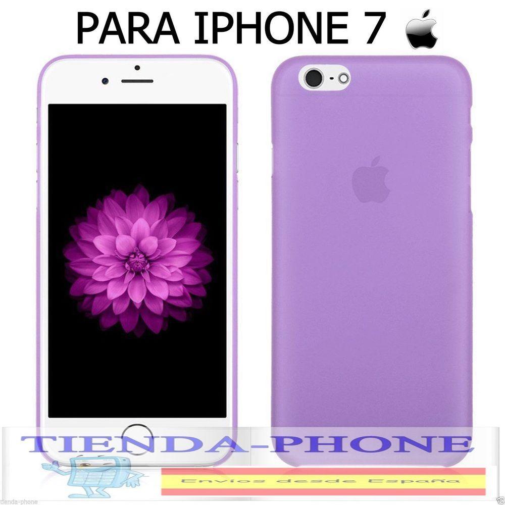 77c979e9cc0 FUNDA MORADO CASE CARCASA Protector ULTRAFINA MATE PARA iPhone 7 BUMPER TPU