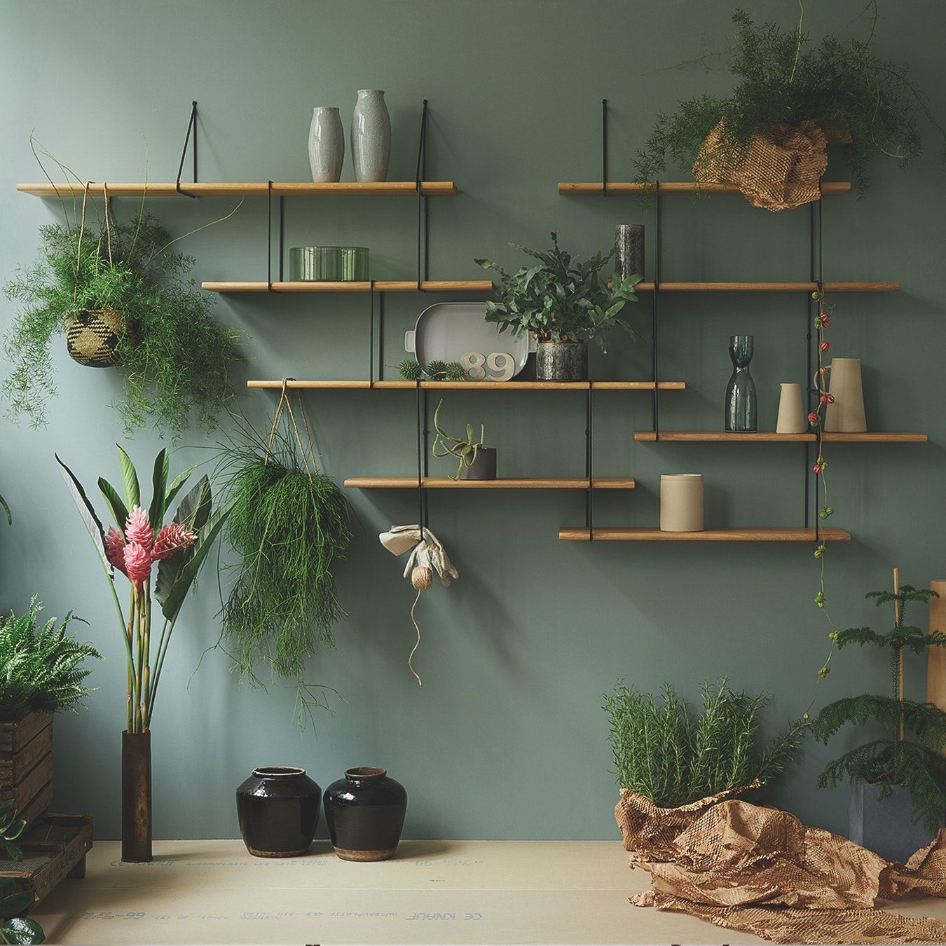 Link Shelf Setup 1 In Oak Black Wall Shelves Living Room Home Decor Interior Design Living Room