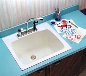 Utility Sink With Countertop.Utility Sink From Bid Mustee Model 10 Durastone Countertop