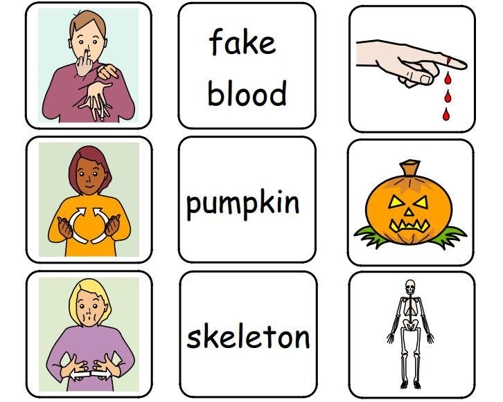 halloween signs in asl