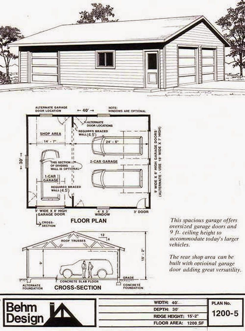 30 x 30 garage Google Search Garage plans, Garage plan