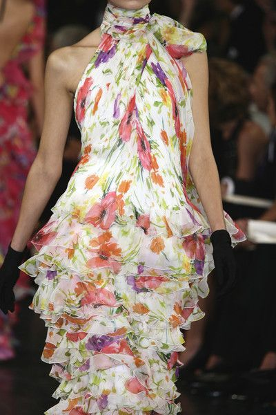 Ralph Lauren At New York Fashion Week Spring 2008 Fashion Floral Fashion American Fashion Designers
