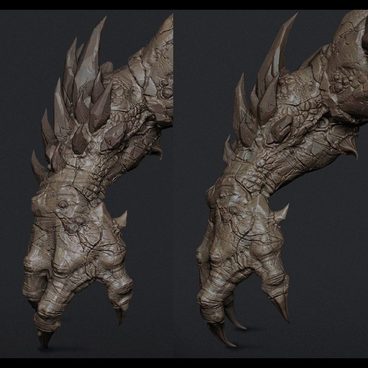 Character Design Unreal Engine : Unreal engine game project giant monster cg sculpts