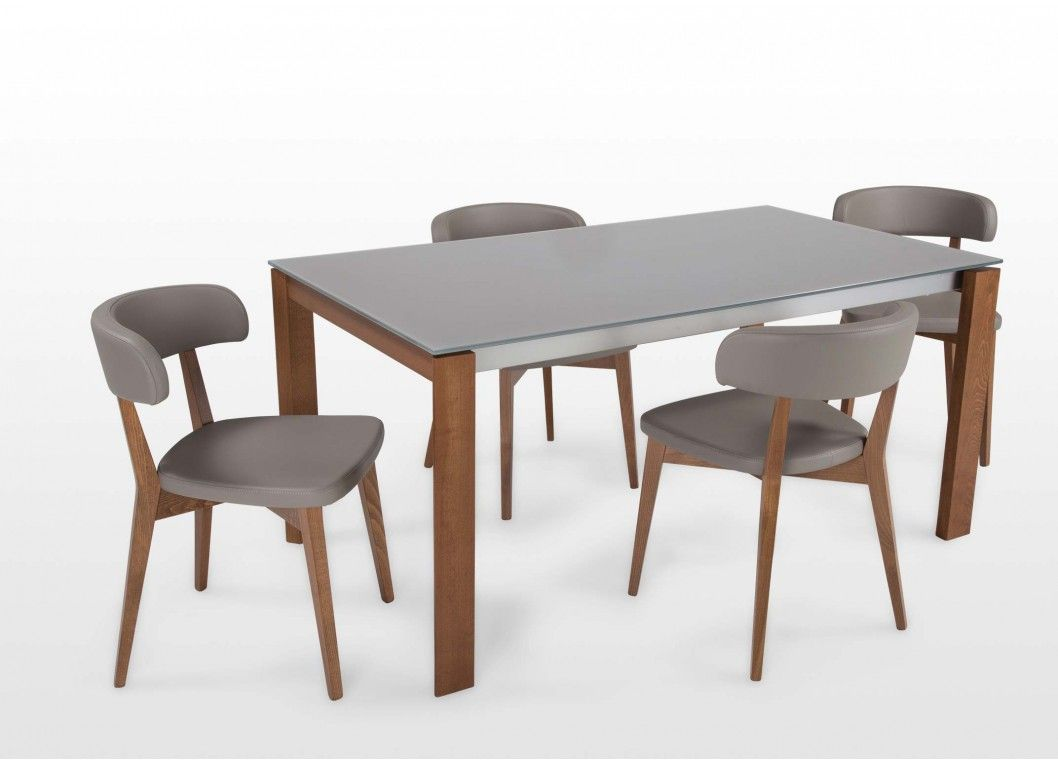 Eminence Tavolo ~ Eminence extending table by connubia calligais taupe glass and