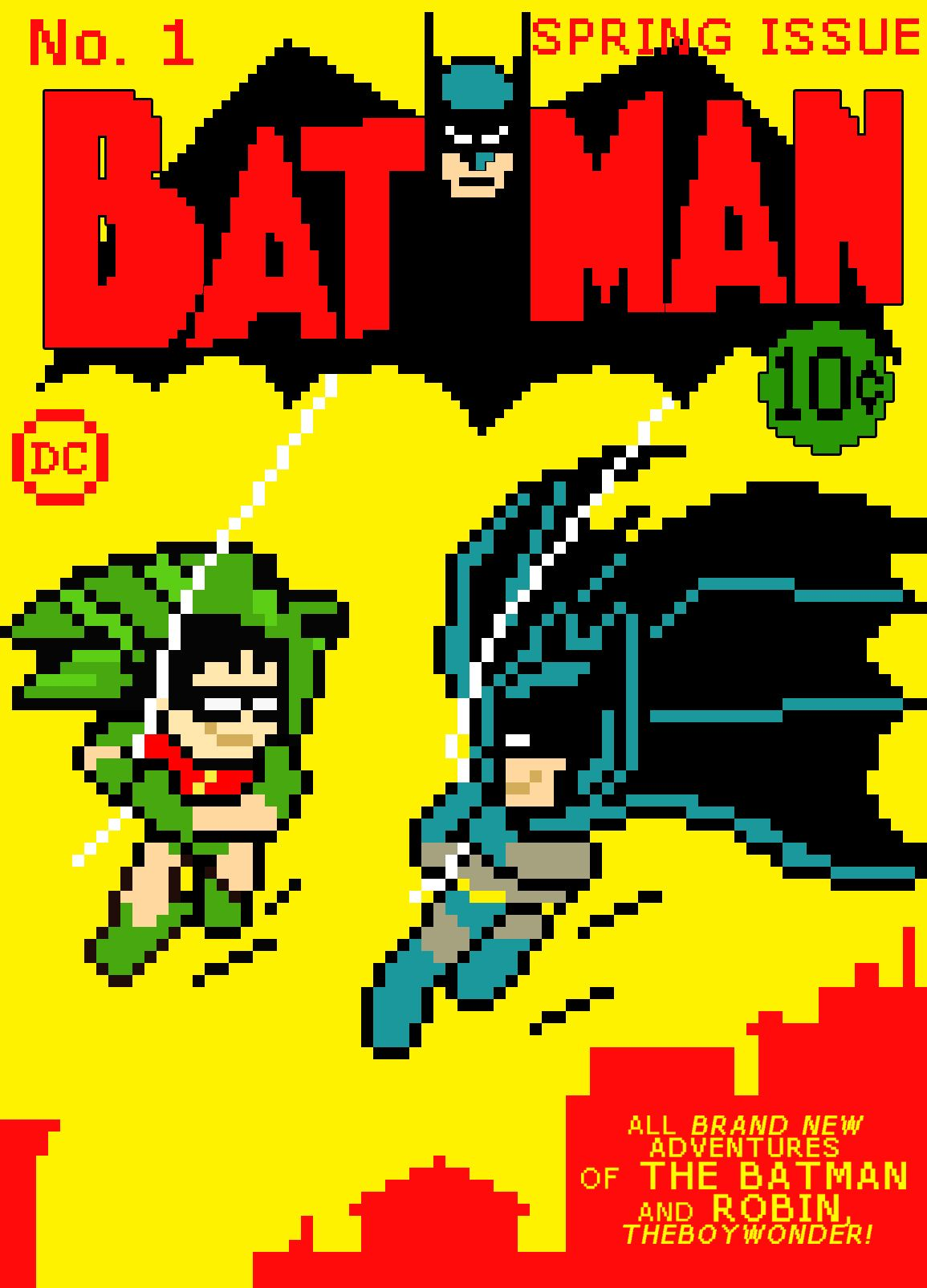 8 bit batman robin 8 bit nerdy loves pinterest for 8 bit decoration