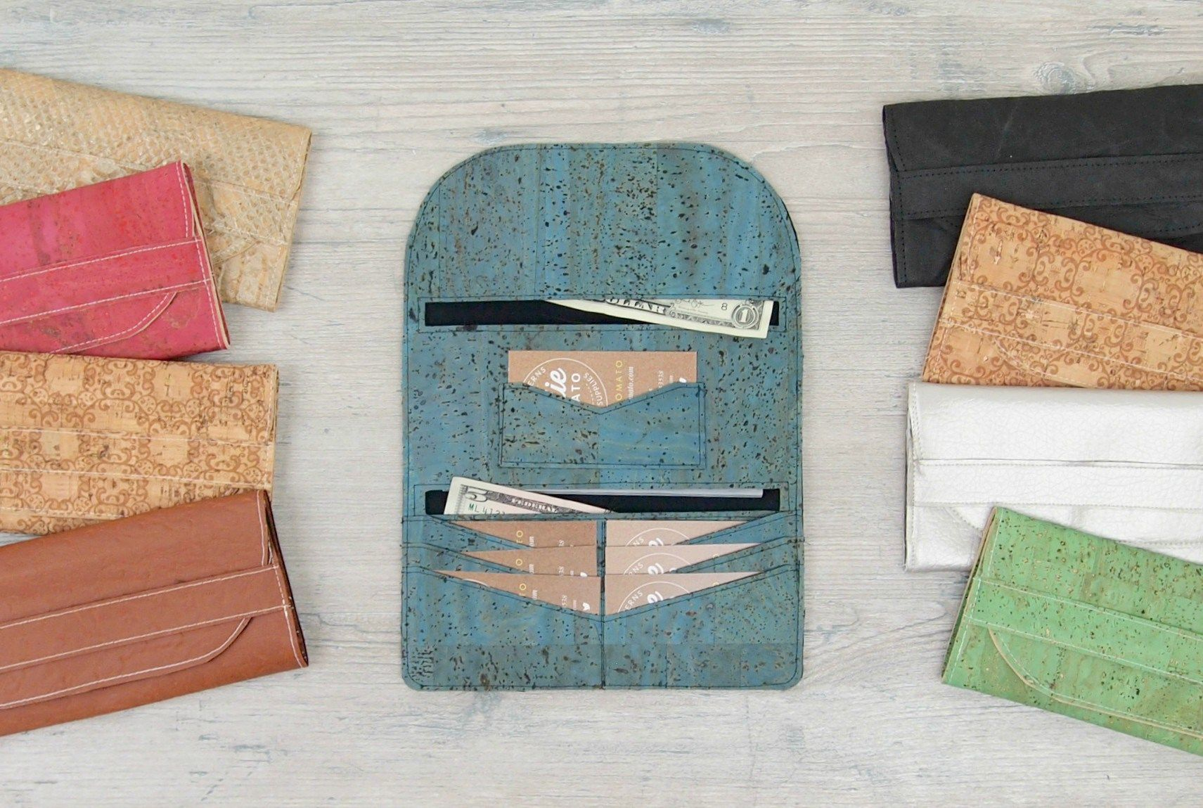 Lucky Penny Wallet Cork Fabric free pattern & SVG files | Die ...