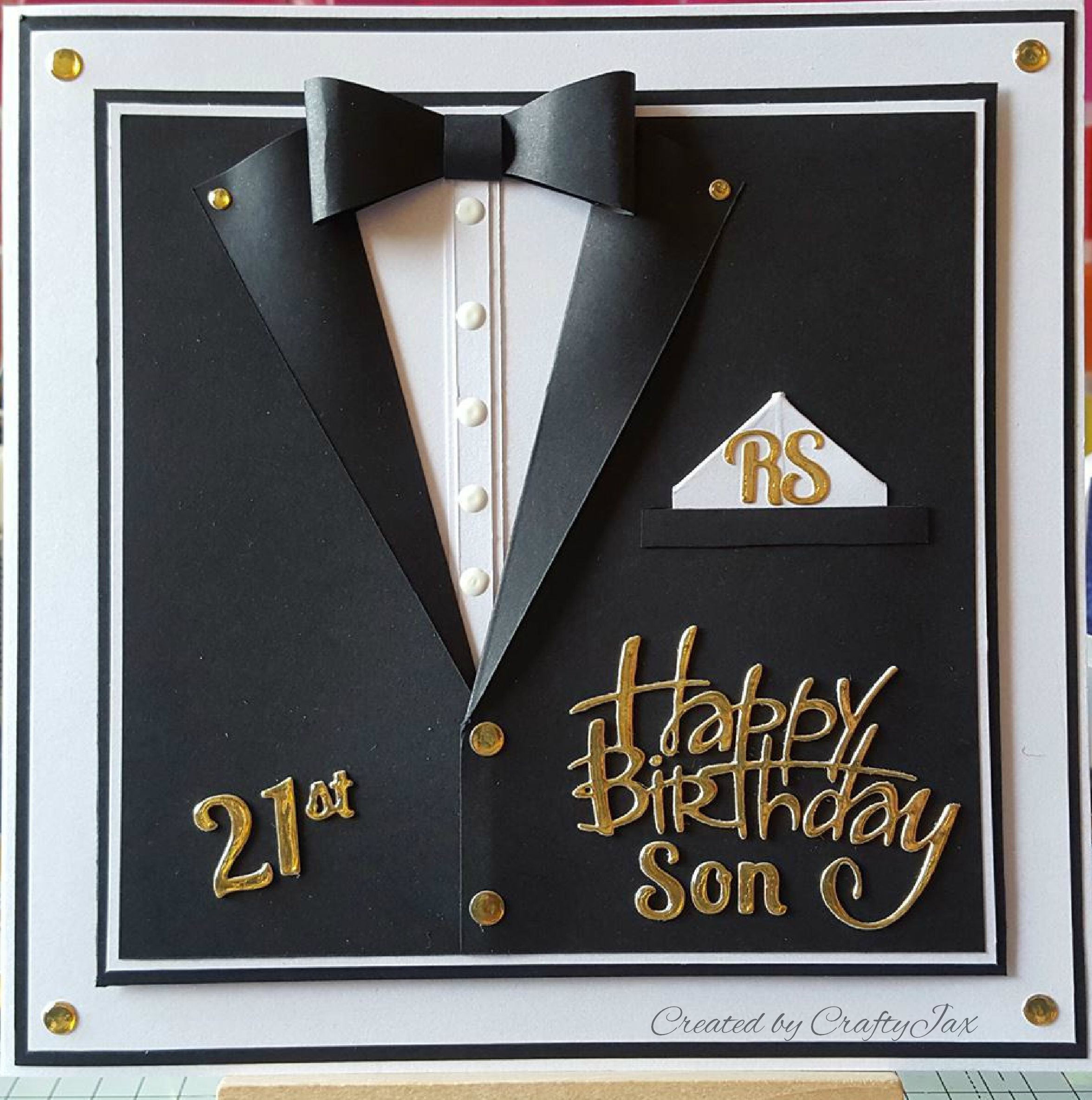 007 inspired male 21st birthday card