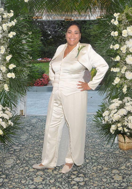 A custom design, bespoke women\'s wedding suit by Dangerous ...