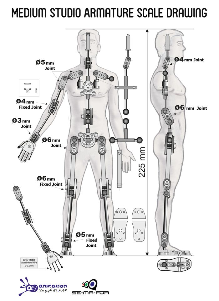 Medium Studio Armature - Ready-made Stop Motion Armature from ...