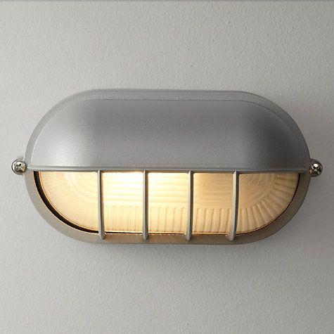 Buy john lewis hanover bulk head outdoor wall light grey online at buy john lewis hanover bulk head outdoor wall light grey online at johnlewis aloadofball Images