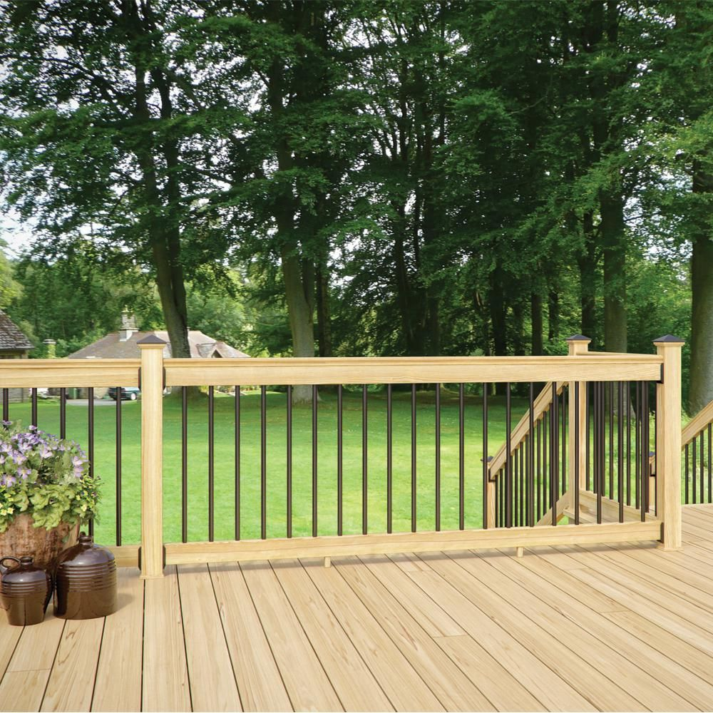 Best Deckorail 8 Ft Aluminum Pressure Treated Southern Yellow 400 x 300
