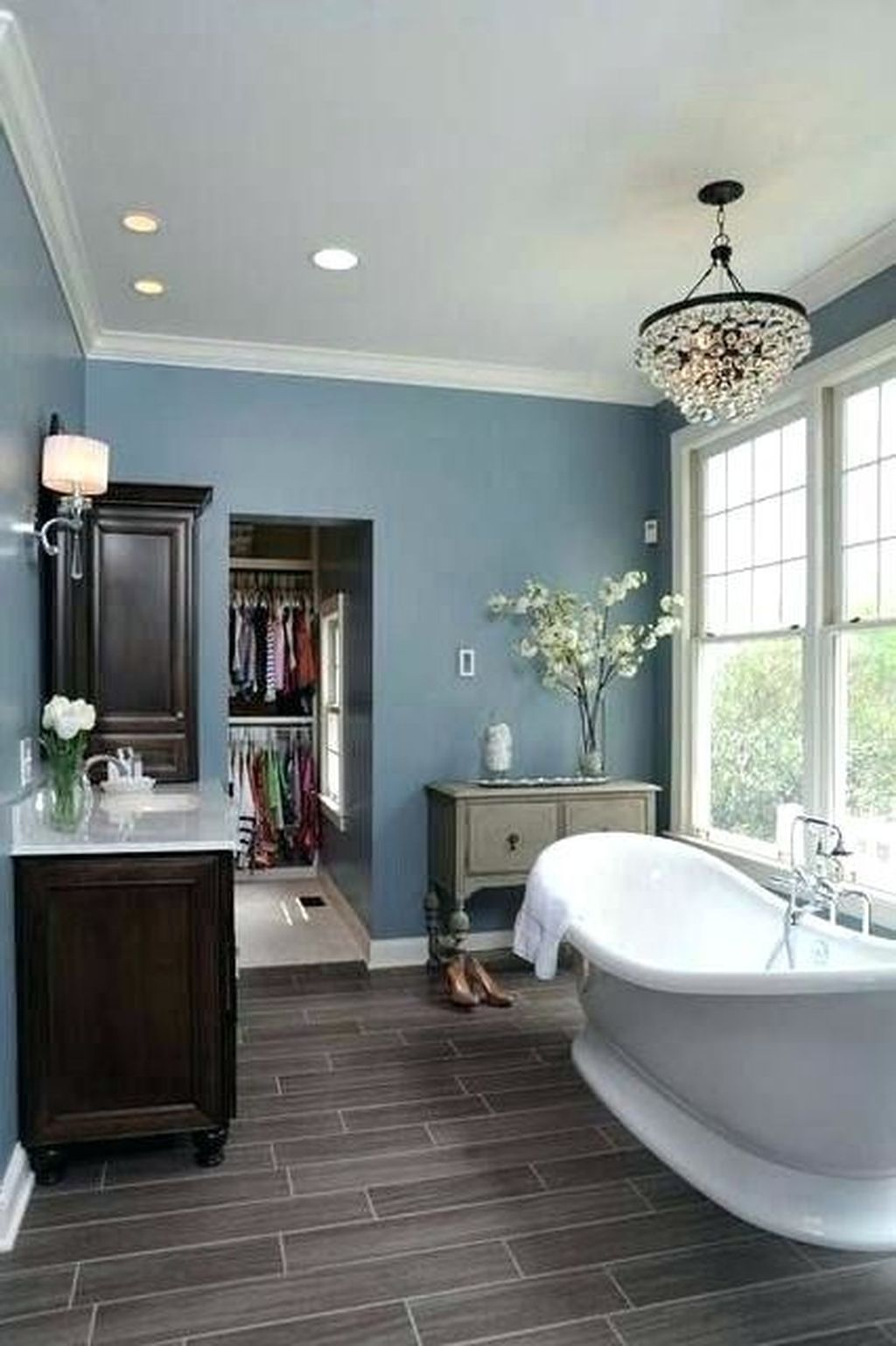 40 Fabulous Grey And Blue Bathroom Design Ideas | Gray and ...