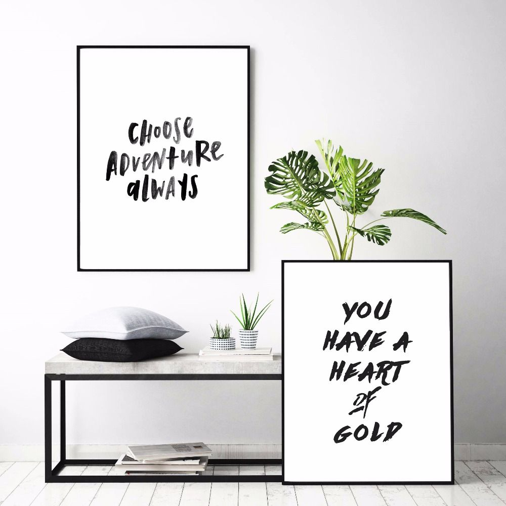 Motivational Gold Letters Nordic Canvas Art Print Painting Poster Wall  Pictures For Living Room Decor Home Decorative No Frame