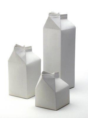 Milk Carton Designs Milk Carton Porcelain Ceramics Ceramics