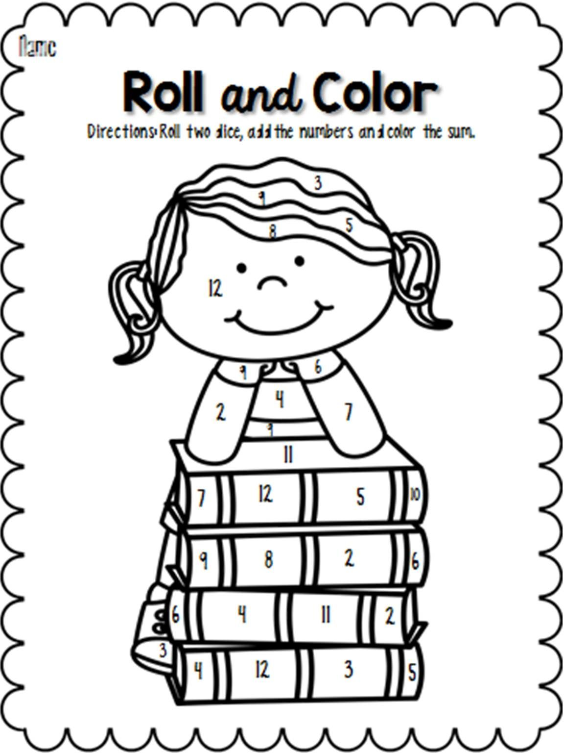 Read Across America Roll And Color Pages