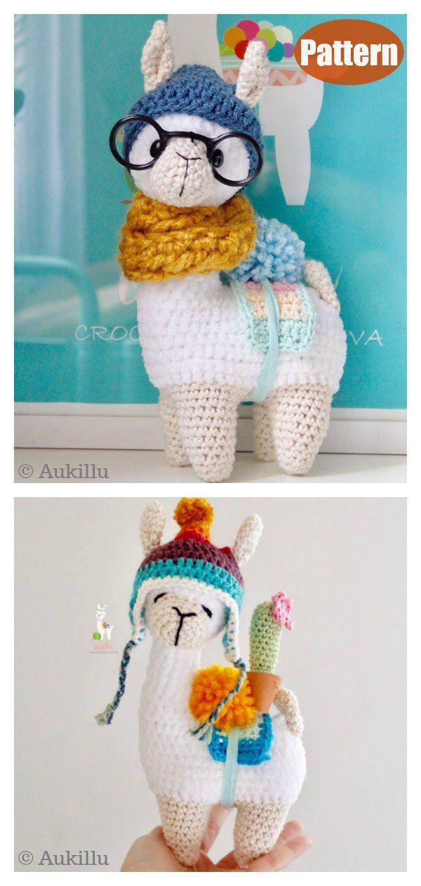 Amigurumi Llama Soft Toy Crochet Pattern #amigurumis