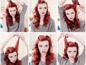 Coiffure de style pin up