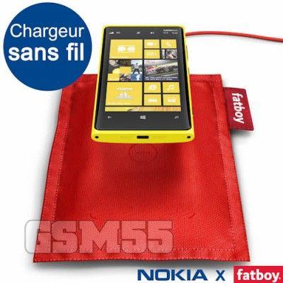 Chargeur Sans Fil, Coussin de Chargement Fatboy Rouge Nokia DT-901 pour Nexus 4 | http://www.gsm55.com/chargeur/lg/lg-nexus-4/chargeur-sans-fil-nokia-coussin-fatboy-rouge-modele-dt-901-dt-901-red.html