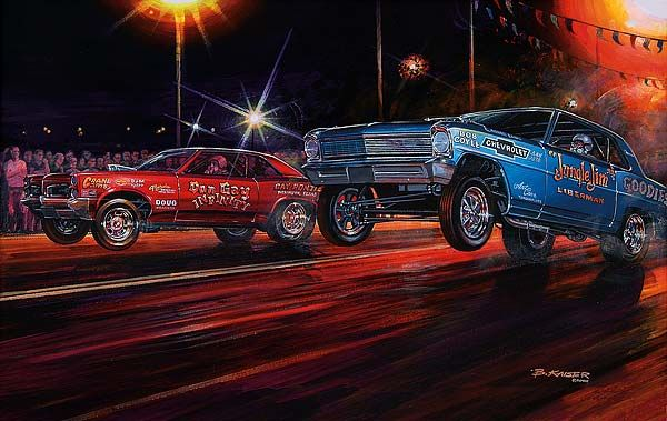 gasser drag race by max kaiser hot rod art pinterest cars cars toons and automotive art. Black Bedroom Furniture Sets. Home Design Ideas