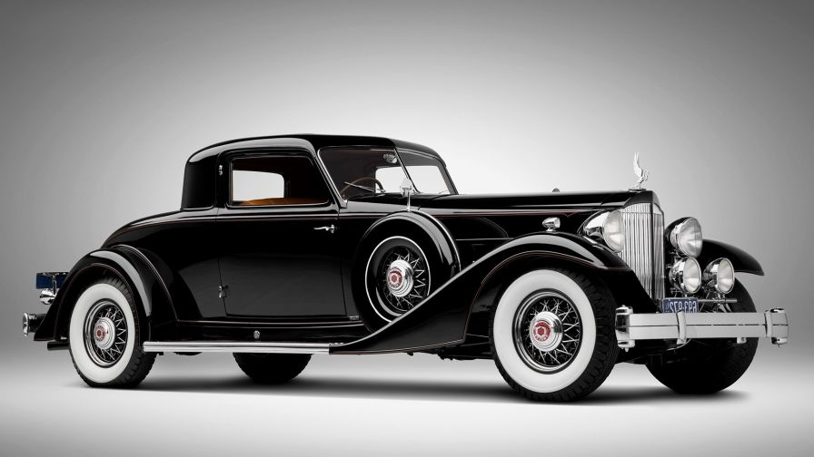 An Old Vintage Classic Black Car Automotive Hd Wallpaper Black