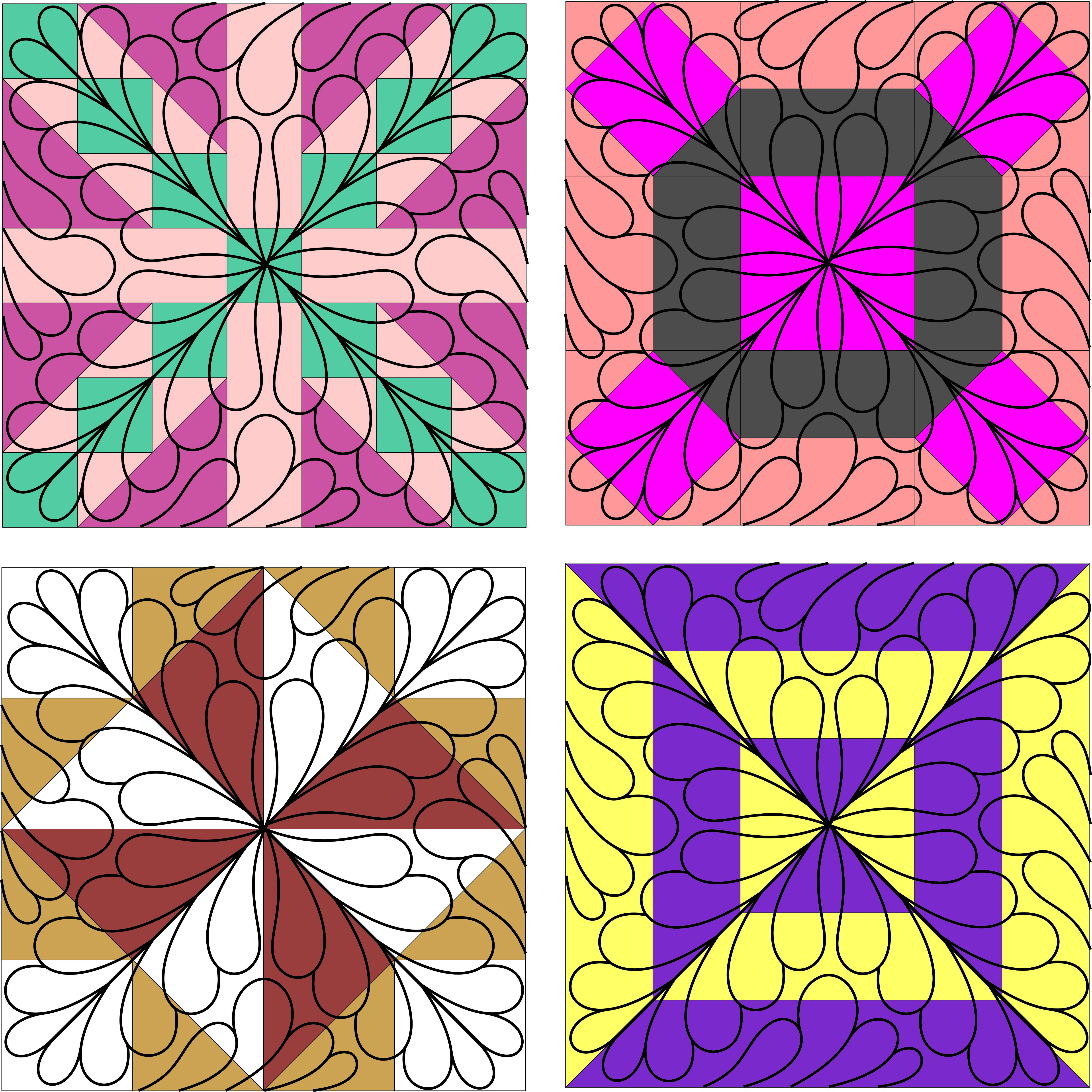 Amazing Feather Quilt Pattern By Fairy Quilt New Fairy Quilt