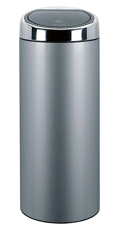 Brabantia Touch Bin 30 Liter Wit.Brabantia Touch Bin Prullenbak 30 L Metallic Gray Wonen Keuken
