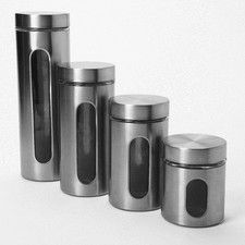 Food Storage, Canisters & Dispensers | Wayfair Anchor Hocking 4 Piece Palladian Window Jar Set $26