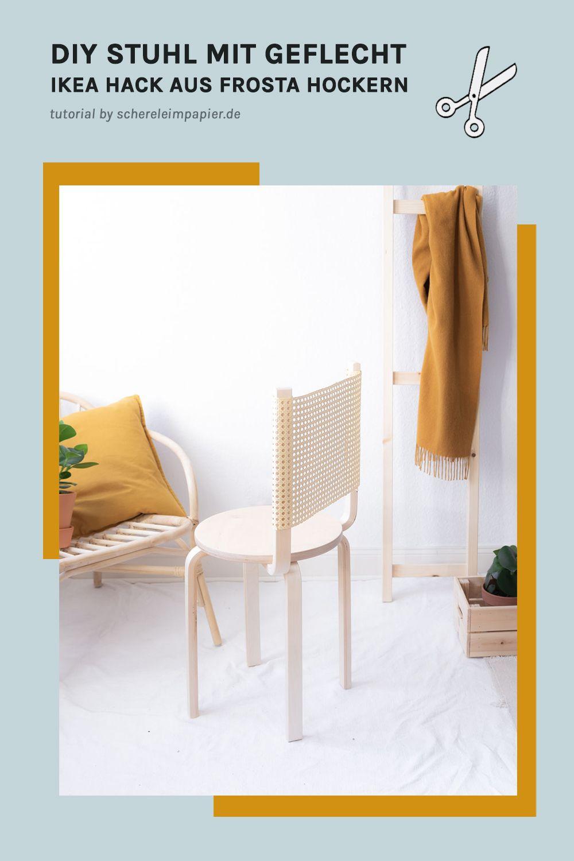 Ikea Diy Mit Geflecht So Wird Aus Zwei Hockern Ein Stuhl Ikea Diy Ikea Ikea Stuhl