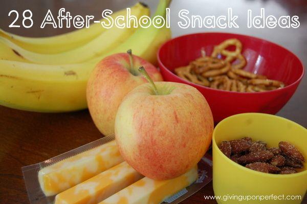 28 SIMPLE After-School Snack Ideas | givinguponperfect.com