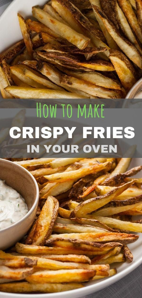 Perfectly crisp homemade fries right out of your oven!! These crispy oven fries are restaurant quali...