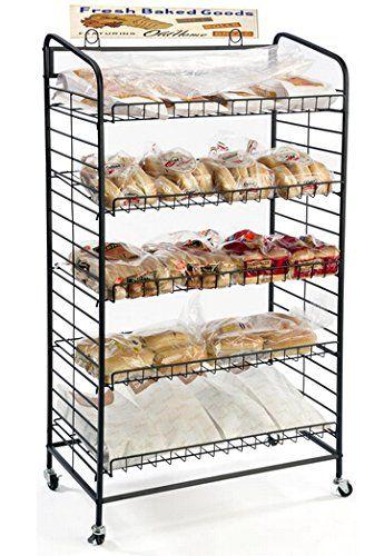 Fixturedisplays 29 0 X 51 0 X 16 0 Bakery Display Rack W Wheels 5 Adjustable Shelves Bakeryideas With Images Adjustable Shelving Bakery Display White Modern Kitchen