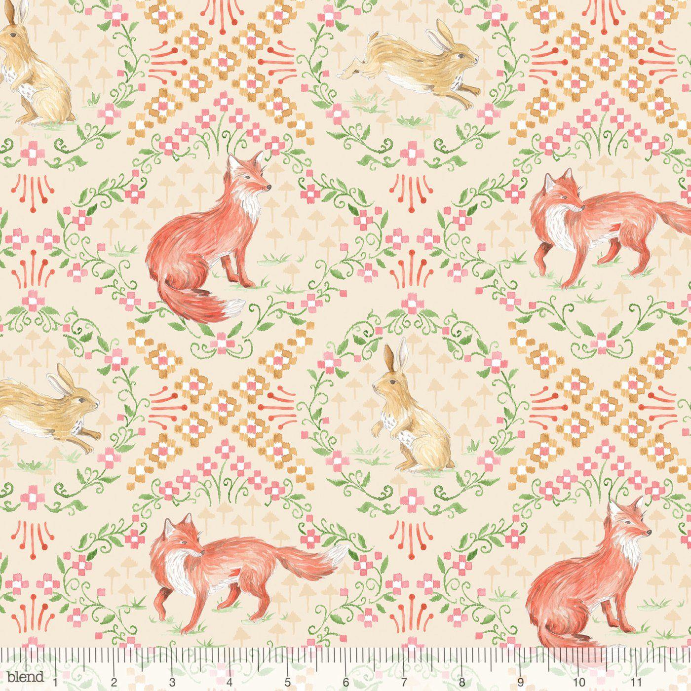 Fox Fabric Rabbit Fabric Bunny Cute Animal Material