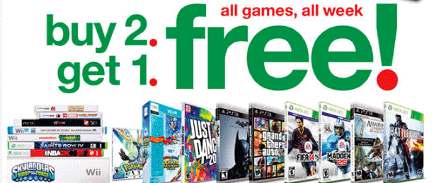 Early Target Black Friday Video Game Deal Buy 2 Get 1 Free Video Game Sales Free Video Game Xbox One Games