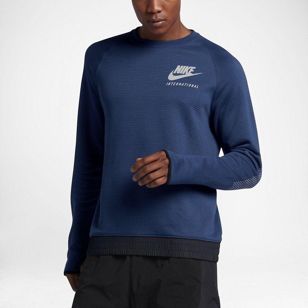 834d21e495 Men s Nike International Crew Sweatshirt Coastal Blue S-XXL 802484 423 NWT   Nike  SweatshirtsCrew