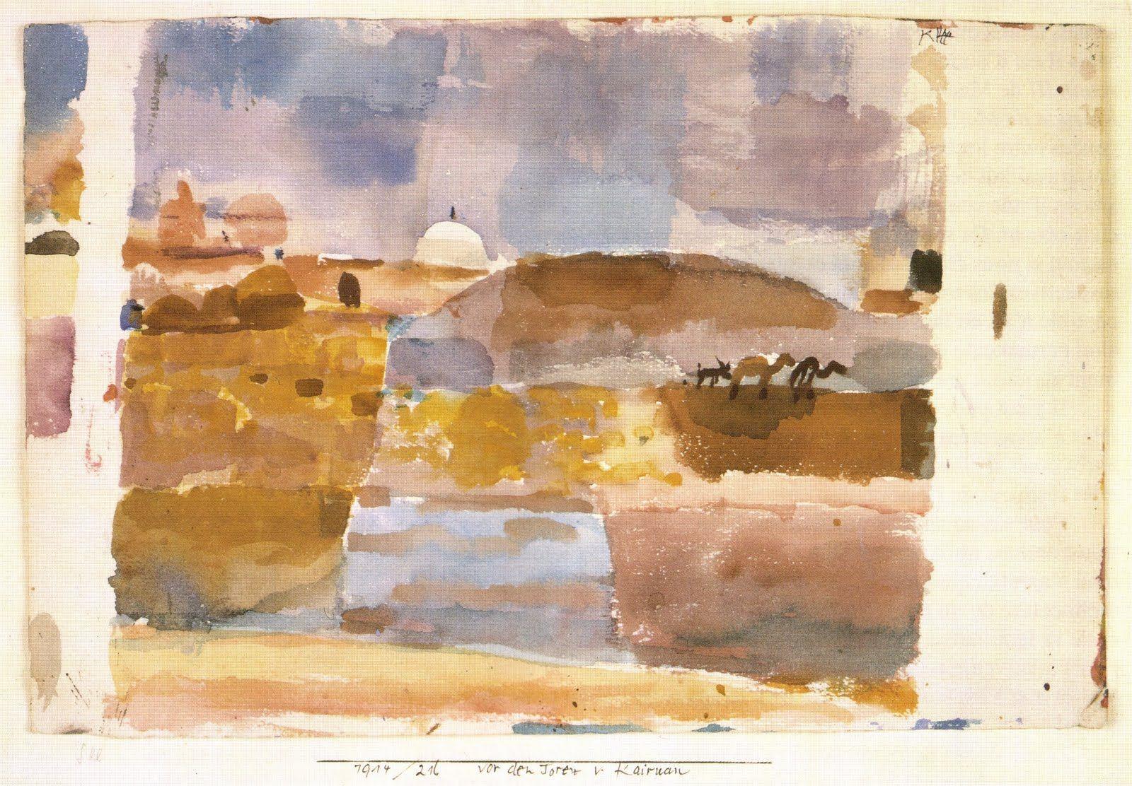 Paul Klee - Aux portes de Keruan (1914)