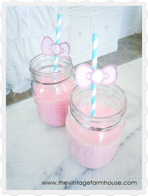 bows taped to straws in milk jars | Party Ideas | Pinterest | Para ...