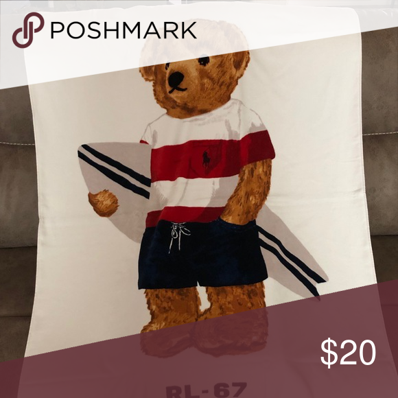 Polo Bear Beach Towel Last Chance Only 1 Left Boutique With