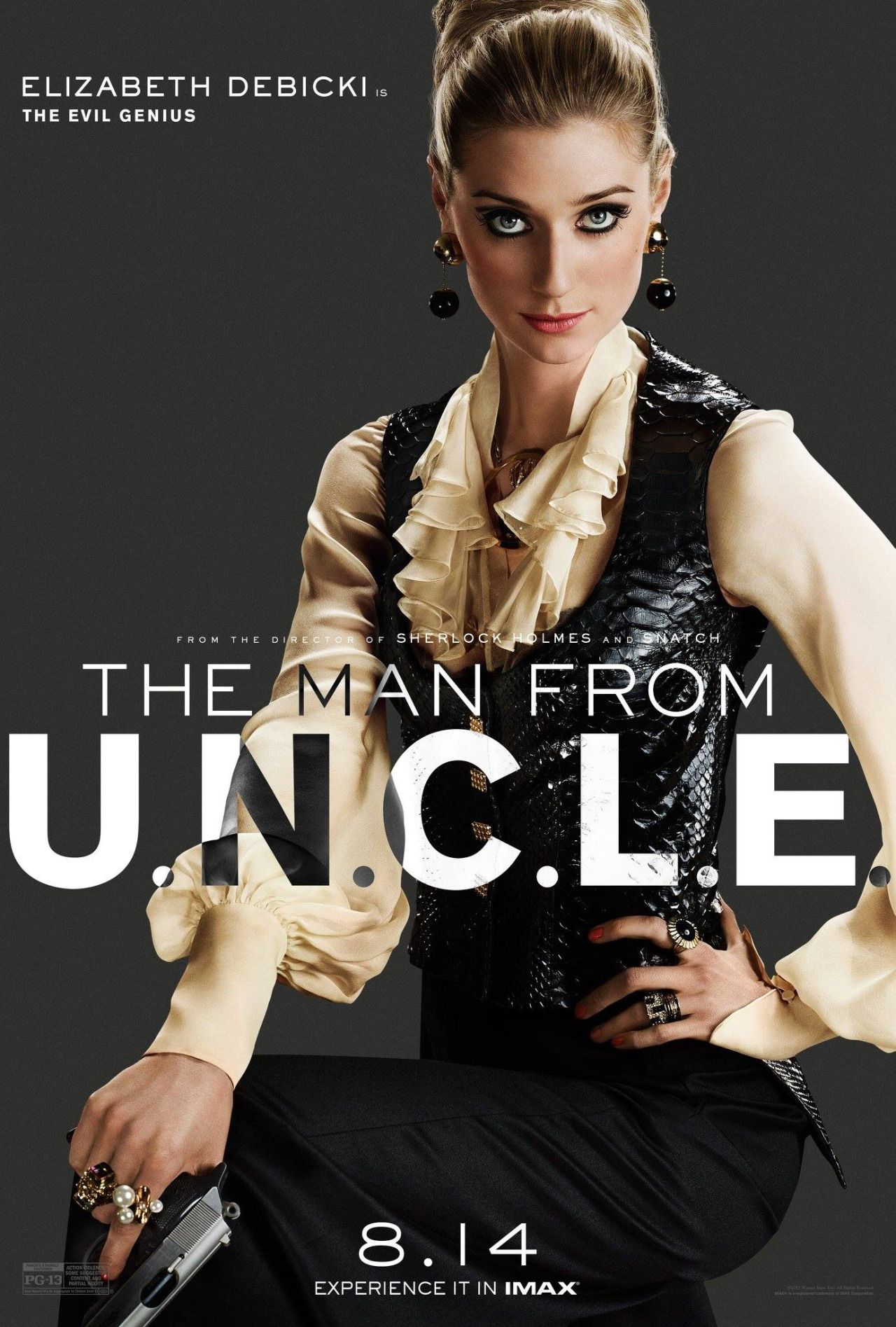 Elizabeth Debicki, character photo for The Man from U.N.C.L.E.The Evil Genius. <3(click the image for extremely high-res photo.)