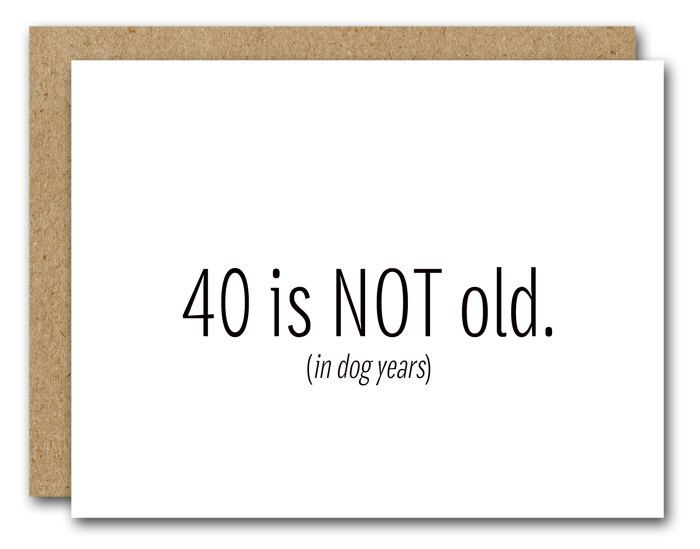 Printable 40th Birthday Card Instant Download Funny 40th Birthday