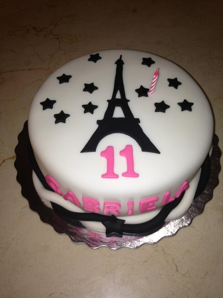 Paris Eiffel Tower Birthday Cake Girly Cake Ideas Paris Themed